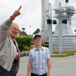 Young boy is over the moon after meeting Buzz Aldrin