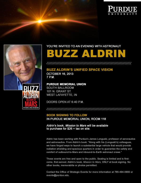 An evening with astronaut Buzz Aldrin at Purdue University