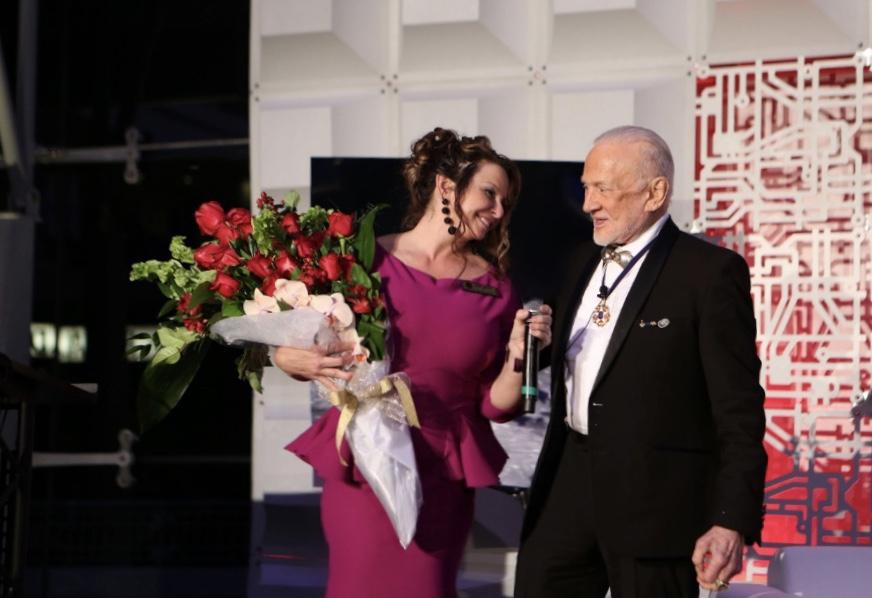 BAV President Buzz Aldrin with COO Linn LeBlanc