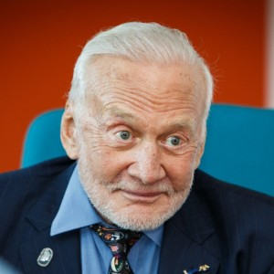 Second man to walk on the moon Buzz Aldrin sprinkled some star dust in wide eyed pupils' eyes when he chatted to pupils from a Stevenage school